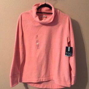 Pink fleece top NWT
